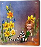 Forest Fairy In The Garden Acrylic Print