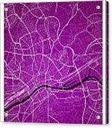 Frankfurt Street Map - Frankfurt Germany Road Map Art On Colored Acrylic Print