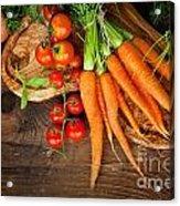 Fresh Vegetables Acrylic Print by Mythja  Photography