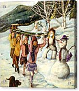 Frosty Frolic Acrylic Print