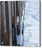 Frozen Northport Dock Acrylic Print