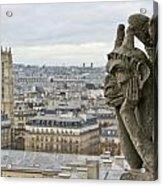 Gargoyle Overlooking Paris Acrylic Print