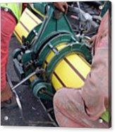 Gas Pipeline Construction Acrylic Print