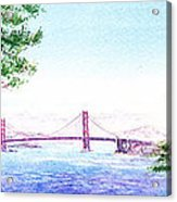 Golden Gate Bridge San Francisco Acrylic Print by Irina Sztukowski
