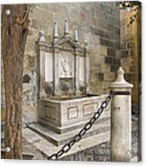 Granada Cathedral Doors And Other Details Acrylic Print