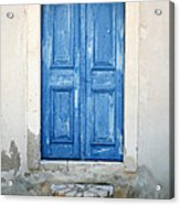Greek Door Acrylic Print