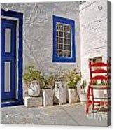 Greek House Acrylic Print