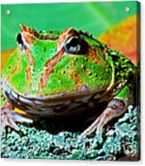 Green Fantasy Frogpacman Frog Acrylic Print