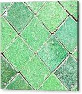Green Tiles Acrylic Print