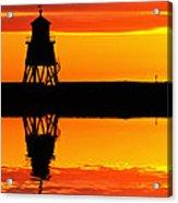 Groyne Lighthouse At Sunrise Acrylic Print