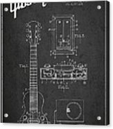 Hart Gibson Electrical Musical Instrument Patent Drawing From 19 Acrylic Print