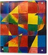 3 Hearts Squared Acrylic Print