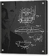 Henry Ford Engine Patent Drawing From 1928 Acrylic Print