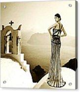 High Fashion Santorini Acrylic Print