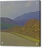 Highway Running Through The Wilderness Of The Scottish Highlands Acrylic Print