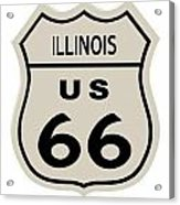 Historical Route 66 Sign Acrylic Print