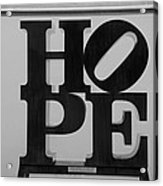 Hope In Black And White Acrylic Print