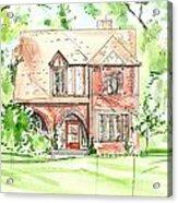 House Rendering Sample Acrylic Print