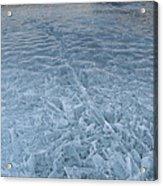 Ice On Abraham Lake Acrylic Print