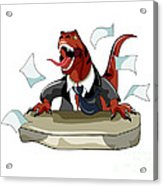 Illustration Of A Tyrannosaurus Rex Acrylic Print by Stocktrek Images