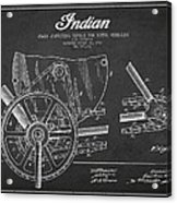 Indian Motorcycle Patent From 1902 Acrylic Print by Aged Pixel