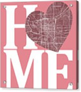Indianapolis Street Map Home Heart - Indianapolis Indiana Road M Acrylic Print