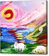 Irish Sunset Acrylic Print by Mounir Mounir