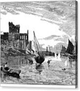 Isle Of Man Peel, 1885 Acrylic Print