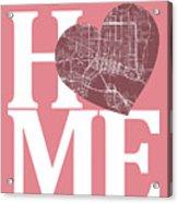 Jacksonville Street Map Home Heart - Jacksonville Florida Road M Acrylic Print