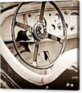 Jaguar Steering Wheel Acrylic Print