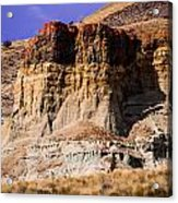 John Day Fossil Beds Nations Monuments Acrylic Print by Shiela Kowing
