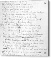 John Keats (1795-1821) Acrylic Print
