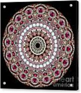 Kaleidoscope Colorful Jeweled Rhinestones Acrylic Print