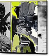 3 Kvoa Tv News Cinematographers Frank Sharkey Dave Sonderegger Jackie Sharkey Tucson Az Collage 2011 Acrylic Print
