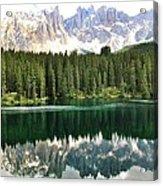 Lake Carezza Acrylic Print