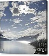 Lake With Clouds Acrylic Print