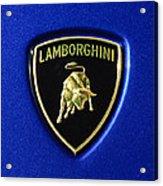 Lamborghini Emblem Acrylic Print