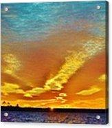 3 Layer Sunset Acrylic Print