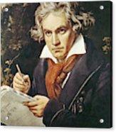 Ludwig Van Beethoven (1770-1827) Acrylic Print