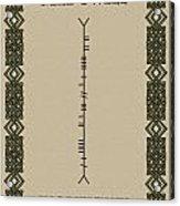Macdowell Written In Ogham Acrylic Print