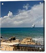 Majesty Of The Seas At Coco Cay Acrylic Print