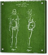 Manikin For Teaching Obstetrics And Midwifery Patent From 1951 - Acrylic Print