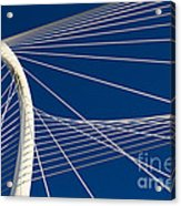 Margaret Hunt Hill Bridge Acrylic Print by Elena Nosyreva