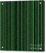 Matrix Green Acrylic Print