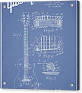 Mccarty Gibson Les Paul Guitar Patent Drawing From 1955 - Light Blue Acrylic Print by Aged Pixel