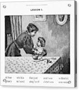 Mcguffey's Reader, 1879 Acrylic Print