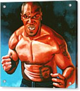 Mike Tyson Acrylic Print by Paul Meijering