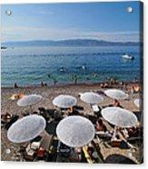 Mikro Kamini Beach Acrylic Print