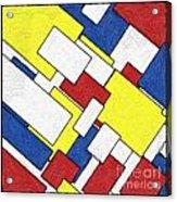 Mondrian Rectangles Acrylic Print