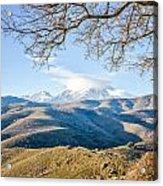 Monte Cinto From Col De San Colombano In Corsica Acrylic Print